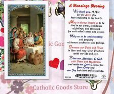 Wedding at Canaan  (A Marriage Blessing on back)  - Laminated Holy Card