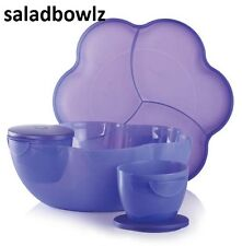 TUPPERWARE New OPEN HOUSE CHIP N DIP BOWL in BERRY BLISS PURPLE fREEsHIP