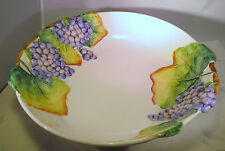 Italian Grape Leaf and Cluster Pottery Pasta/Salad Bowl - 14 Inches -  Used