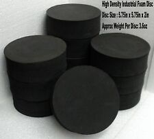 """1 High Density Foam Disc 5.75""""x 5.75""""x 2"""" Protection Packing - Round Pad - 3.6oz"""