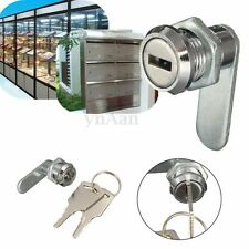 Quality Cam Lock For File Cabinet Mailbox Desk Drawer Cupboard Locker + 2 Keys