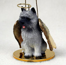Cairn Terrier Dog Figurine Angel Statue Gray