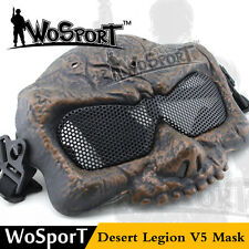 Military Airsoft Paintball Goggles Tactical Skull Game Half Face Protection Mask