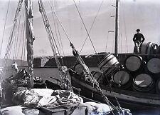 RHODES c. 1935 - Le Port Grèce Négatif Verre - V9 1026