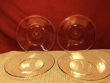 Avon Crystal Rose Anniversary Set of 4 Luncheon Plates 8""