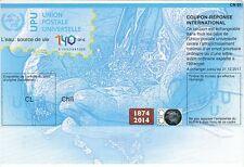 Chile 2014-17 Coupon Reponse International CN1 UPU NEW 140 years