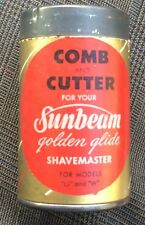 "Vintage Sunbeam Comb And Cutter Golden Glide 1943 Box Tin Top 2"" T"