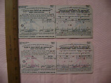 1961 & 1962 Railroad Retirement Board Record of Service Months and Compensation