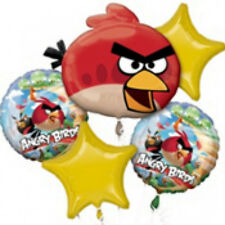 Angry Birds Birthday Party Balloon Bouquet 5Pc