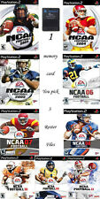 NCAA 2003 - 2011 Football Real Rosters File on PS2 Memory Card