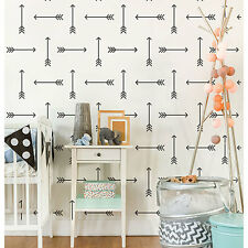 Tribal Arrows Allover Stencil - LARGE - Tribal Wall Pattern Design - DIY Decor