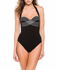 Gottex Lady Like Luxe  Halter Swimsuit   One Piece, 8