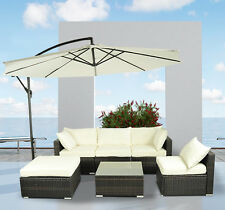 Outsunny 6pc Outdoor Rattan Wicker Sofa Garden Sectional Couch Patio Furniture