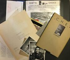 Chet BAKER (Jazz): Collection of Cards, Letters, Screen treatment, etc.