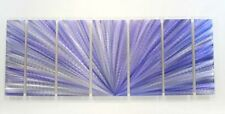 Purple Abstract Metal Painting Contemporary Metal Wall Art Accent  - Aura XL