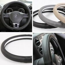 NEW Black PVC Leather Steering Wheel Cover Acura Audi A4 Integra 38cm non-slip