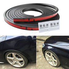 118'' PVC Car Fender Flares Extension Black Wheel Eyebrow Protector Lip For VW