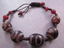 Tibetan Dzi Agate Adjustable Shamballa Bracelet