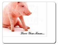 Cute Pink Pig 'Love You Mum' Computer Mouse Mat Christmas Gift Idea, AP-20lymM