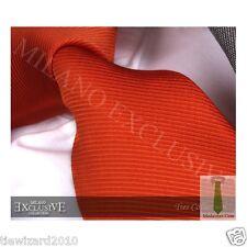 New Men's Designer Burnt Orange Silk Tie Wedding Ties Gift