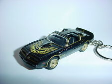NEW 3D BLACK 1977 PONTIAC TRANS AM CUSTOM KEYCHAIN keyring key BANDIT T/A 77'