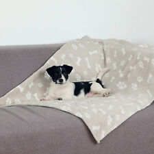 Kenny Dog Blanket Beige with Paw & Bone Design 150cm x 100cm