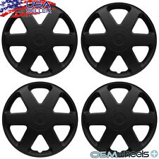 "4 NEW OEM MATTE BLACK 15"" HUB CAPS FITS FORD SUV CAR CENTER WHEEL COVERS SET"