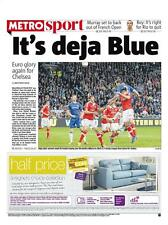 2012 Europa League Champions Chelsea Metro Newspaper 16 May 2013 BJORN ULVAEUS