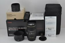 SIGMA AF MACRO 105mm F2.8 EX DG OS HSM for Canon EOS EF Mount with Box #170111g