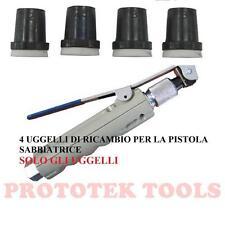 Set di ugelli di ricambio per pistola sabbiatrice 4 uggelli da 2-2,5-3-3,5 mm