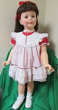 36 inch G-35 Ideal Brunette Center Part Patti Playpal Doll in Vintage Outfit
