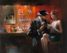 Willem Haenraets: Evening in the bar I Fertig-Bild 60x80 Wandbild