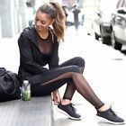 Donna A Rete Pantaloni Da Yoga Sport Tuta Outdoor Eserczio Workout