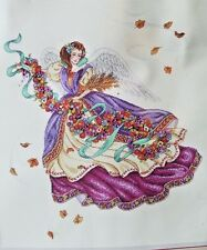 """Dimensions Gold Collection Harvest Angel Counted Cross Stitch 14 X 16"""" 1995 3791"""