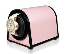 ORBITA Sparta MINI Watch Winder in Pink Leatherette,  ROTORWIND, Made In the USA