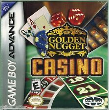 Golden Nugget Casino  (Nintendo Game Boy Advance, 2004) Factory Sealed
