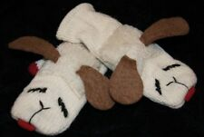 ADULT LAMBCHOP MITTENS knit FLEECE LINED lamb chop puppet costume mitts animal