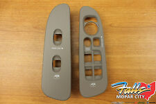 2002-2005 Dodge Ram Left and Right Window Switch Lock Bezel Set Tan Taupe OEM