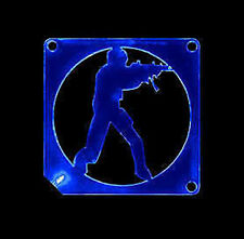 Lot of 10 Mutant Mods Acrylic Blue LED 80mm Fan Guard Counterstrike!  USA SELLER