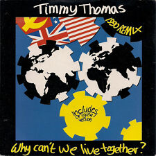 """Timmy Thomas Why Can't We Live Together? 1990 Remix UK 45 7"""" sgl +Picture Sleeve"""
