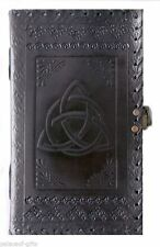 Handmade Journal Leather Diary Triquetra Knot 1 lock Artist Sketchbook Notebook