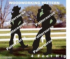 COWBOY GREETING SILHOUETTE woodworking pattern, plan, 2 in this set,