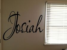 Custom Josiah Boys Room Name Nursery Baby Kids Vinyl Wall Art Quote Sticker