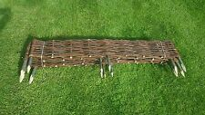 Garden Patio Wicker Border Fence with Post Outdoor Fencing 100 x 35 cm 5pices