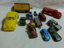 Lot vintage toy cars and trucks Hubley Dinky Tootsietoy Renwal