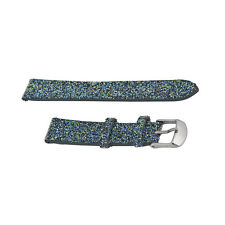 Michele Blue Nights Crystal 16mm Strap with Tang Clasp