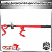 For Universal Twin Hooks Steering Wheel Anti-Theft Lock RED