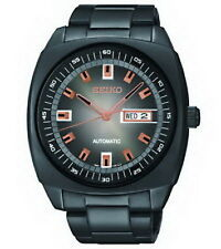 Seiko  Automatic Mechanical SS Black Retro Dial Watch SNKM99 Men's Watch