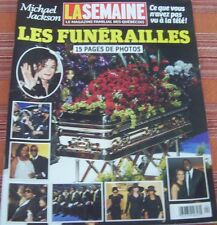 LA SEMAINE MICHAEL JACKSON SPECIAL 15 PAGES  JENNIFER ANISTON SHIA LABEOUF 2009