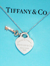 Tiffany & Co Return To Tiffany Argento Sterling Cuore Collana con chiave di & rubedo